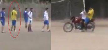 Regardez comment ce gardien a réussi à rapidement revenir dans ses cages après être monté au corner !