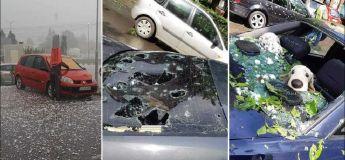 De violentes chutes de grêle se sont produites en Roumanie et les dégâts sont importants