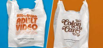Des sacs en plastique, affichant des messages embarrassants, incitent les gens à ne plus les utilisés