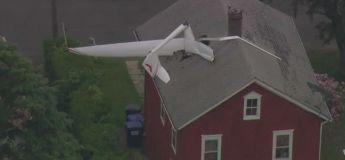 Un petit avion crée la panique en s'écrasant sur une maison dans le Connecticut