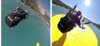 Voilà un atterrissage précis et parfait pour un saut en parachute