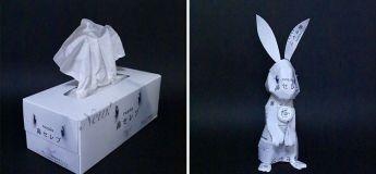 Un artiste japonnais recycle les emballages pour en faire de magnifiques œuvres d'art