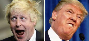 Boris Johnson et Donald Trump, deux personnes pas si éloignées que ça d'après ce que l'on peut voir sur ces clichés