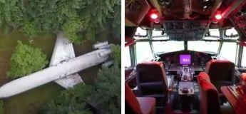 Cet homme a fait d'un avion abandonné sa propre maison (Vidéo)