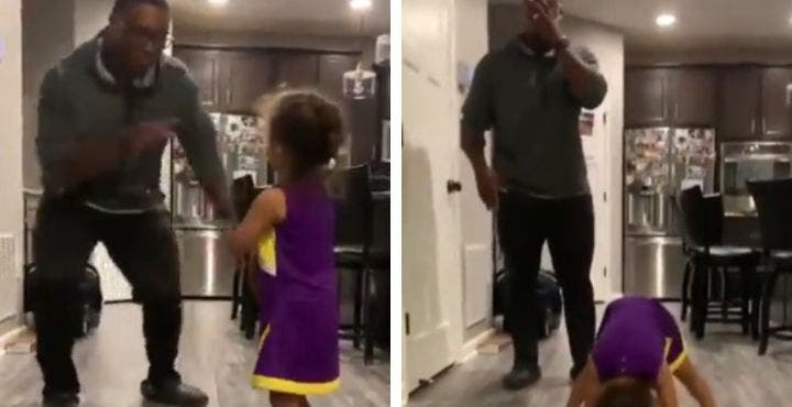 Ce papa n'en peut plus lorsqu'il voit comment sa fille danse (Vidéo)