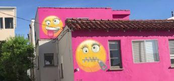 Une maison, décorée avec des émojis, a contrarié les voisins