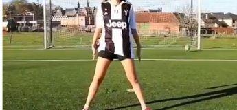 Cette jeune fille imite très bien certaines icônes du football (Messi, Ronaldo, Pogba…) sur les penalties