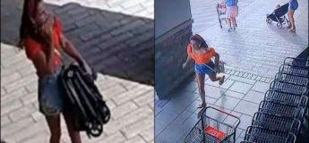 Une femme vole une poussette dans un magasin… et s'enfuit en oubliant son enfant