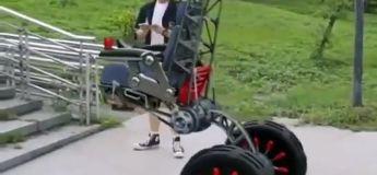 Découvrez la vidéo d'un fauteuil roulant sorti tout droit du futur