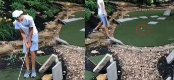 Golf Parkour : Il réussit à mettre la balle directement dans le trou dès le premier swing