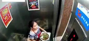Une femme évite de justesse d'être écrasée par un ascenseur défectueux