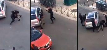 La vidéo du policier suspendu de ses fonctions après s'être battu avec un employé municipal à Servan