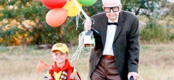 Cette photo de ce petit garçon avec ses arrières grands parents sur le thème du film d'animation « Up » a séduit les internautes