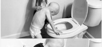 Une photo déchirante d'une fillette de 5 ans réconfortant son frère atteint d'un cancer touche les internautes