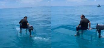 Ce petit bateau transparent ne peut être qu'une très belle ou très mauvaise expérience, rien entre les deux