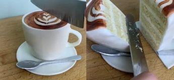Un gâteau sous forme d'une tasse de café, qu'est ce qu'on veut de plus ?