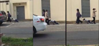 Buzz : Une maman traîne son enfant endormi sur son cartable à roulette