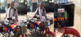 La moto de cet homme fonctionne aux commandes vocales et dispose d'un distributeur automatique de billets