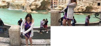 Une touriste découvre qu'elle a capturé un moment inestimable en arrière-plan de photos de vacances