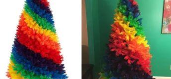 Les arbres arc-en-ciel sont maintenant disponibles pour égayer votre Noël