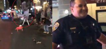 Regardez la réaction de la police à cet incroyable mouvement exécuté par le jeune homme
