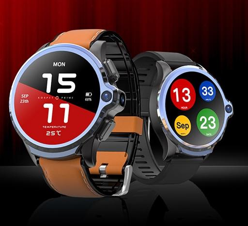 Précommadez la puissante smartwatch Kospet Prime 4G : double caméras, ID face, 32 Go et une batterie de 1260 mAh