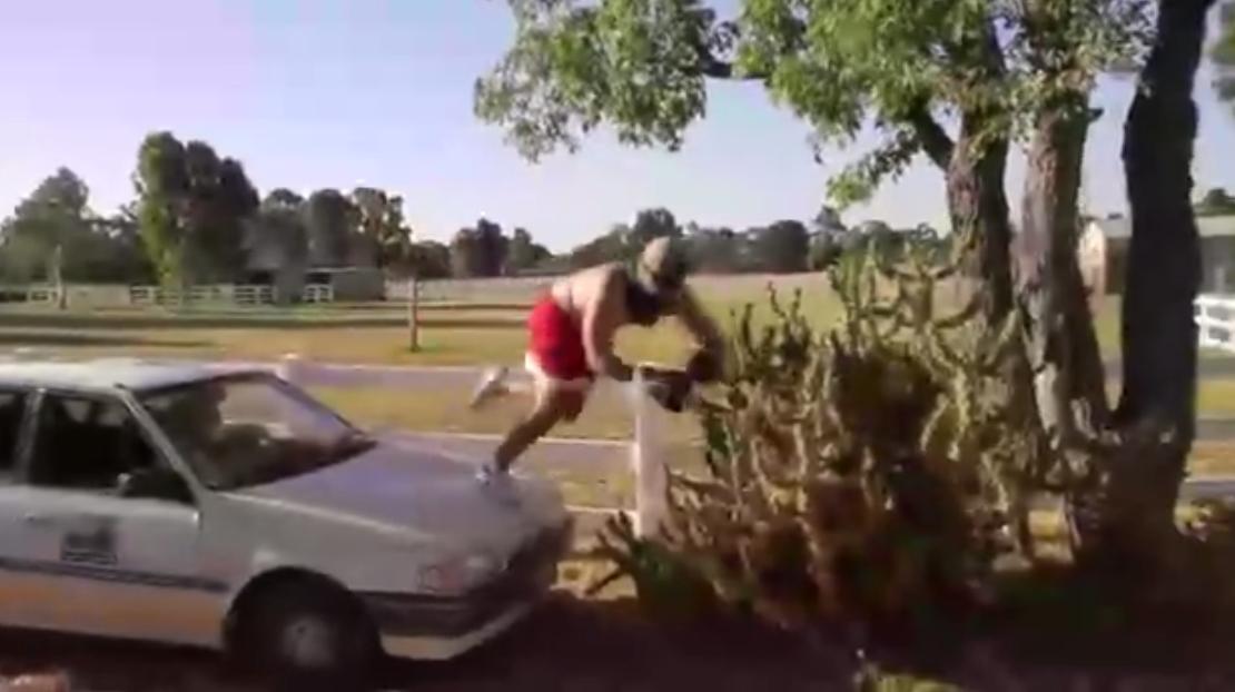 Voici la pire folie de la semaine : sauter dans un immense cactus !