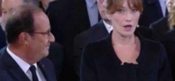 Hommage à Jacques Chirac: les internautes s'interrogent sur ce qu'Hollande a bien pu dire à Carla Bruni