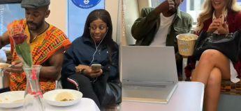 Les femmes au métro sont surprises avec des rendez-vous romantiques par cet homme et leur réaction est hilarante
