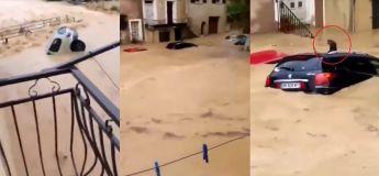 Un pauvre chat coincé au milieu d'un immense torrent d'eau à Servian (Vidéo choquante)