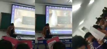 Ce prof ouvre une vidéo porno devant toute la classe et ne sait pas comme réagir
