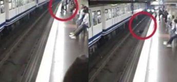 Distraite par son téléphone, une femme tombe sur les rails du métro