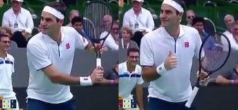 L'incroyable réaction de Federer quand un fan lui demande d'arrêter de bouger pour qu'il lui prend une photo