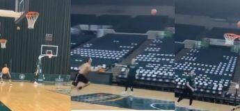 Des basketteurs se la jouent footballeurs dans cet exploit IN CROY LA BLE !