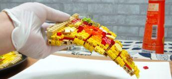 Une belle réalisation d'une vidéo de «Lego Stop Motion» illustrant les étapes de la préparation d'une pizza
