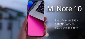 Xiaomi Mi Note 10 : le premier smartphone à 108 mégapixels au monde en précommande