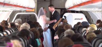 Un mariage dans un avion pour un couple Australo-Néo-Zélandais