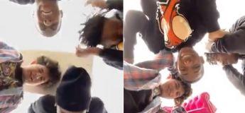 Voici un nouveau défi lancé par ces jeunes : lancer des objets en dessus et recevoir les coups !