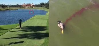 En jouant du golf, cet homme accidentellement tue un canard qui s'envolait