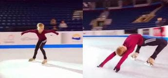 Préparez-vous à être fascinés par l'incroyable talent de cette jeune patineuse