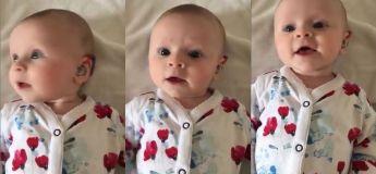 Une vidéo d'un bébé qui sourit de joie après avoir activé les aides auditives est devenue virale