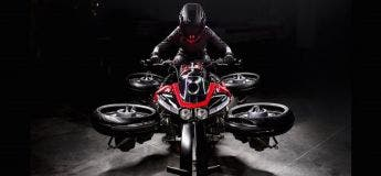 Avec la Lazareth LMV 496, la moto volante n'est plus un mythe