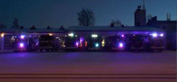 La vidéo de Noël des pompiers 2019 dans un show lumineux