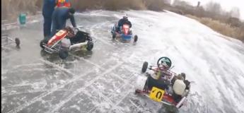 Quand Mario Kart se joue en mode réel en Russie, sur une piste de glace !