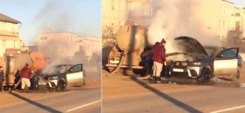 Russie : un BMW X6 sauvé d'un incendie grâce à du caca