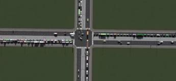 Vidéo impressionnante montrant le trafic sur 30 carrefours à 4 voies en mode accéléré