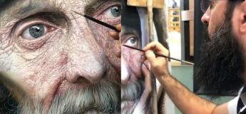 Non, ce n'est pas réel ! c'est plutôt un tableau de peinture d'un veille homme, fascinant, non?