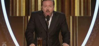 Ricky Gervais clashe le monde du cinéma dans son speech des Golden Globes 2020 et on adore ça !