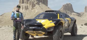 Ken Block au volant de la E Electric Odyssey 21 lors de la dernière étape du Rallye Dakar