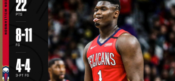 Zion Williamson : 22 points en 18 minutes pour son premier match NBA  (vidéo highlights)